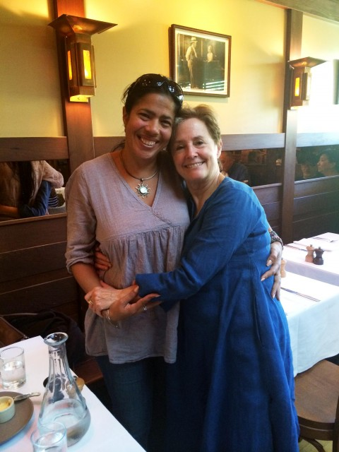 Cuban organic farmer Isis Salcines and Alice Waters